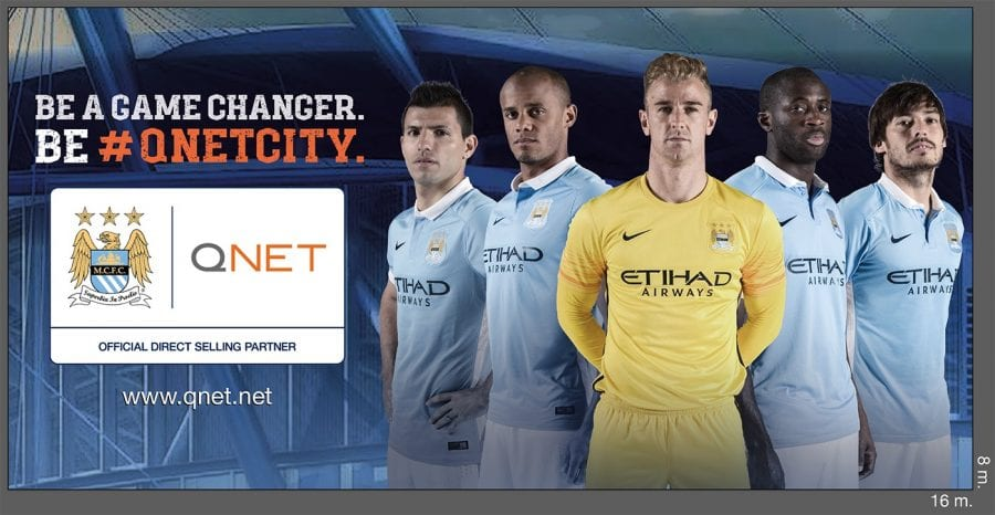 MCFC QNET Billboard 6th of October Bridge Egypt 2