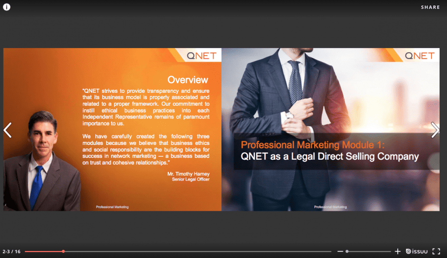 QNETPRO Module 1- QNET as a Legal DS Company