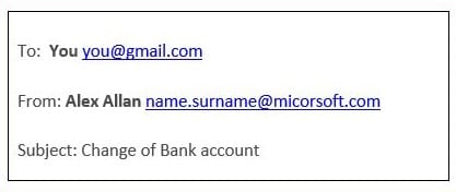Email Spoofing Wrong Email Address