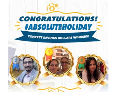 Meet Our First #AbsoluteHoliday Contest Winners